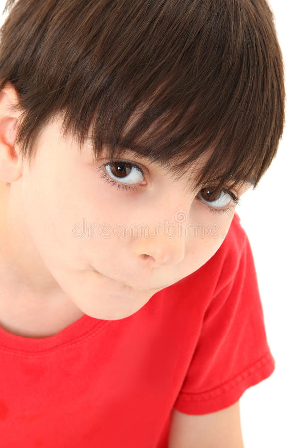 Boy Making No Talking Face royalty free stock photography