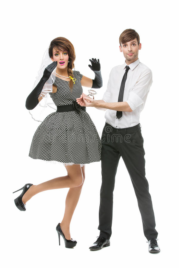 Boy Making Preposal To Girl Stock Image - Image of female, gloves ...