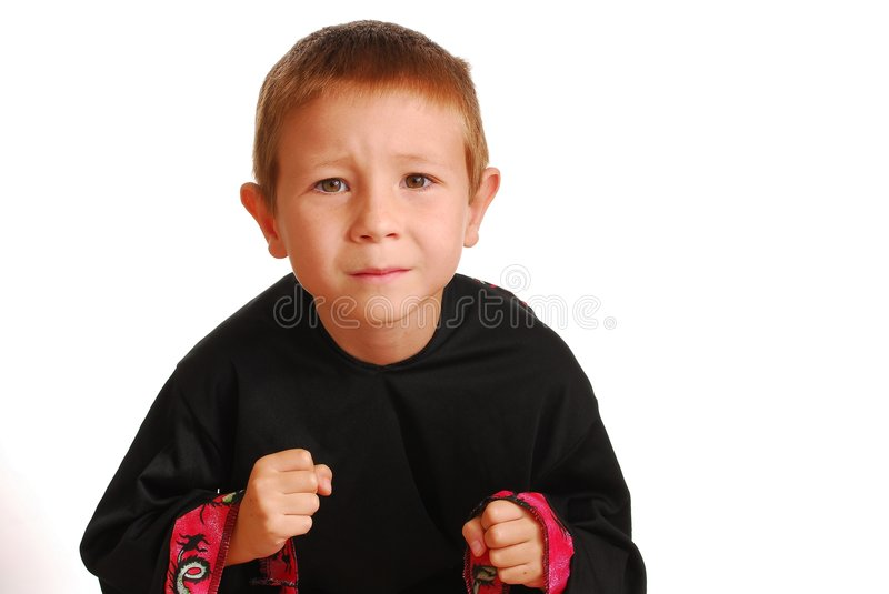 Boy In Martial Art Suit Stock Photo