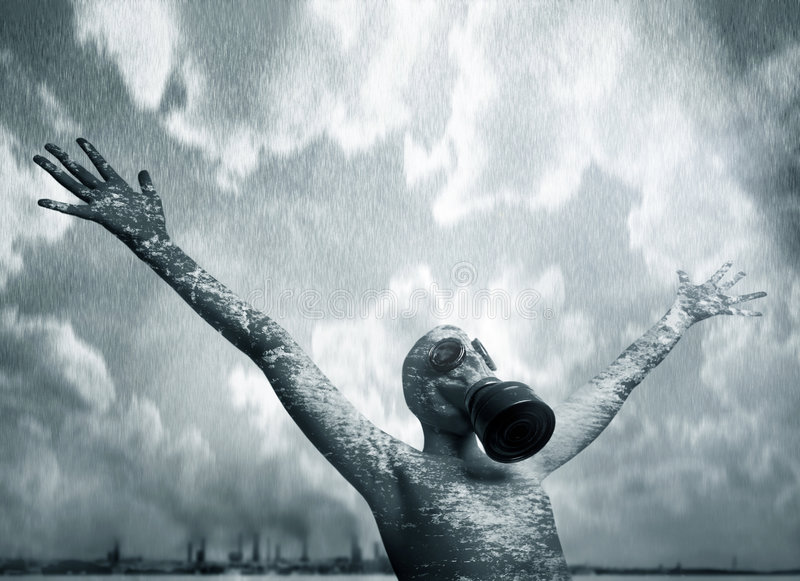Download Boy and a mask stock photo. Image of steamy, ecology, rain - 2722700