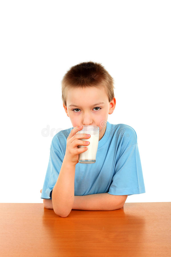 Download Boy with milk stock image. Image of adolescence, cute - 23219491