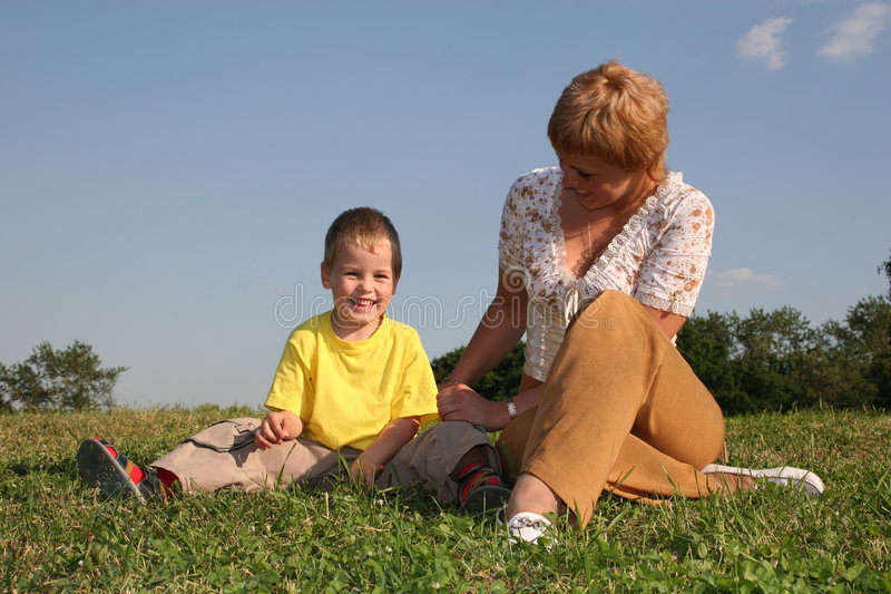 Boy with mother royalty free stock photos