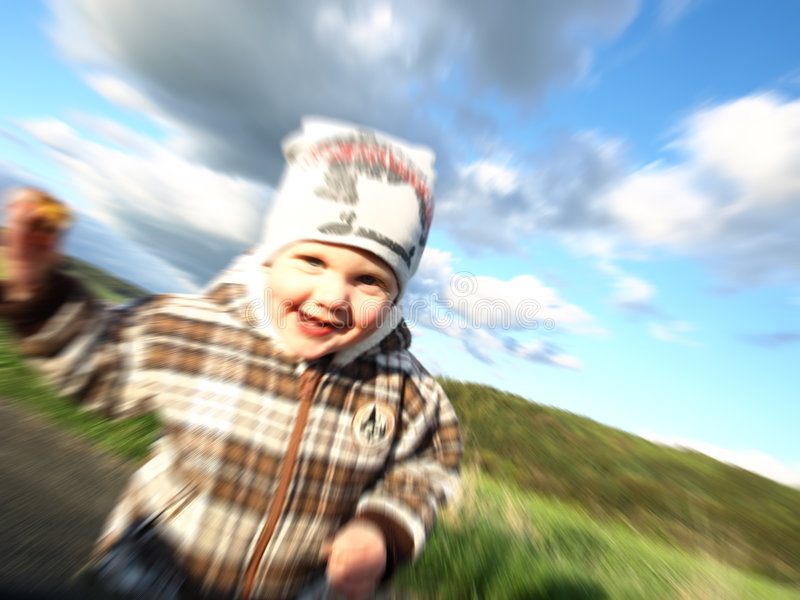 Boy In Motion Royalty Free Stock Images