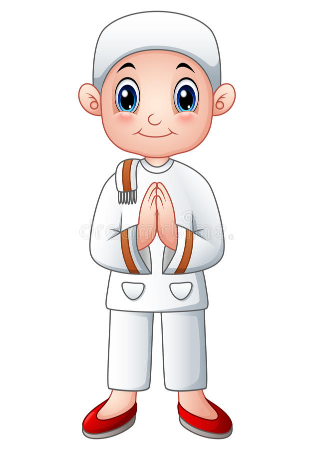 Boy muslim cartoon. Illustration of Boy muslim cartoon stock illustration