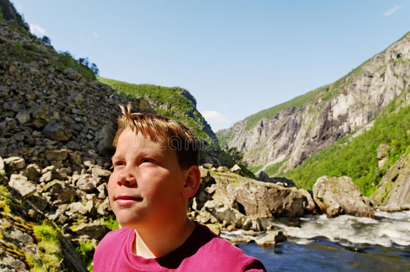 Boy in Norway. royalty free stock images