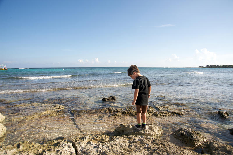 Download Boy By The Ocean Stock Image - Image: 16270331