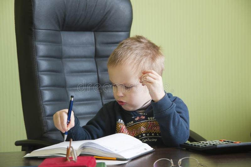 Download Boy in the office stock photo. Image of head, manager - 39501126