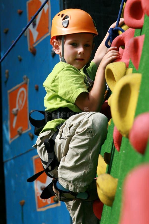 Free Boy On Climbing Wall Stock Photography - 11001542