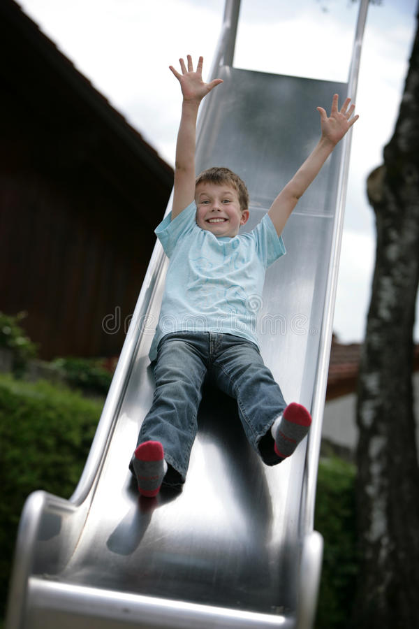 Free Boy On Slide Stock Images - 15478474