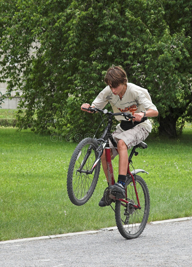 Free Boy On The Bicycle Royalty Free Stock Image - 936726