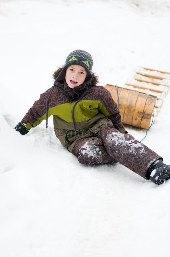 Download Boy outdoors in winter stock photo. Image of child, outdoors - 22750002