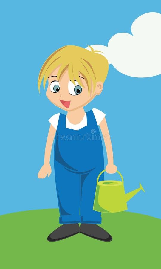 Boy in overalls