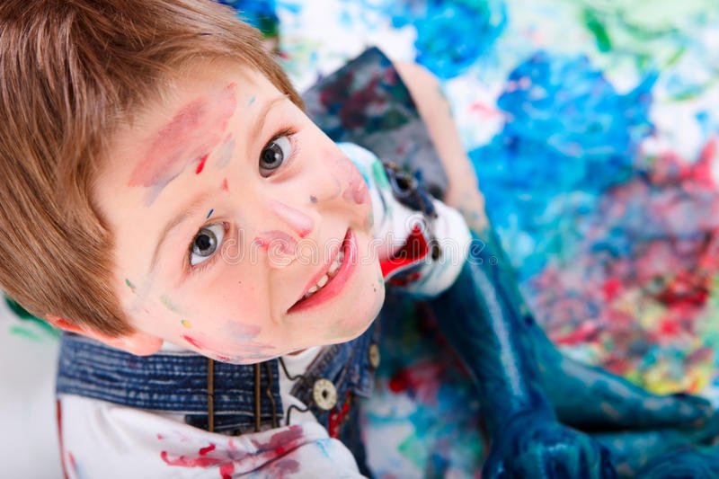 Download Boy painting stock photo. Image of imagination, human - 11858178