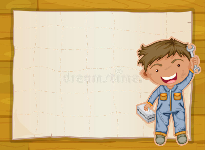 Boy And A Paper Sheet Royalty Free Stock Photos