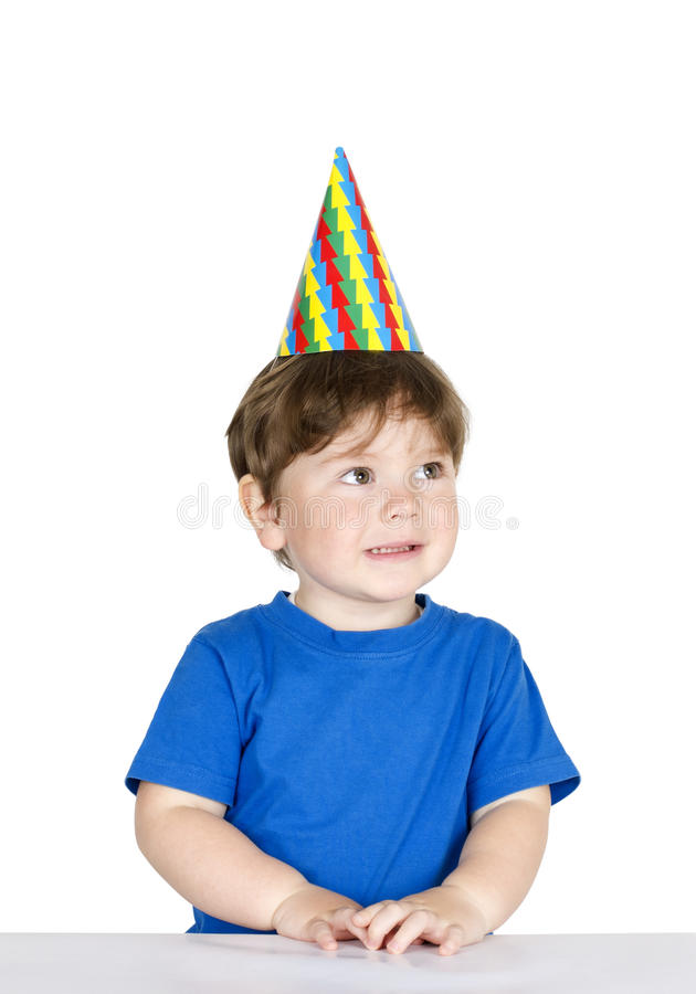 Download Boy With A Party Hat. Stock Images - Image: 24220374