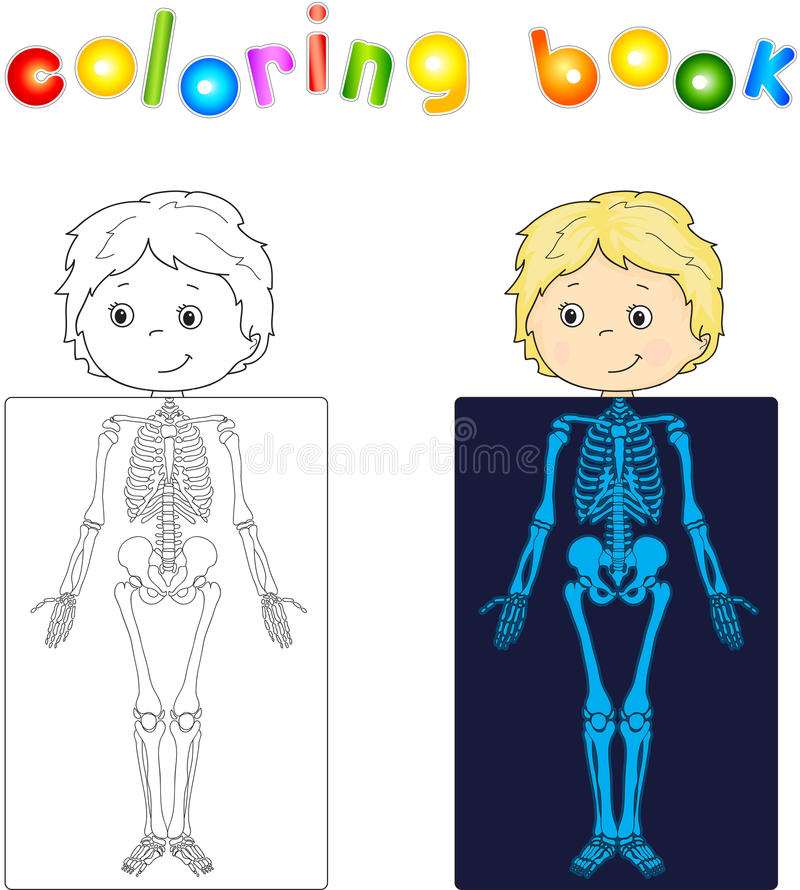 Download Boy Patient Whose Body Is Shown In The X Ray Stock Vector
