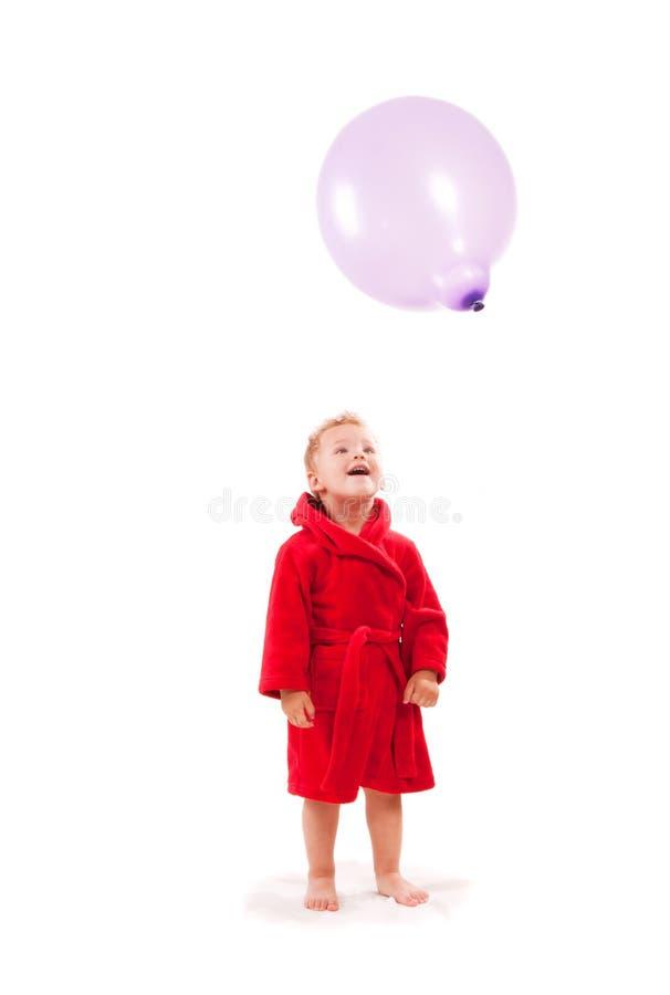 Download Boy paying with balloon stock image. Image of joyful - 15837705