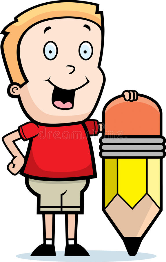 Download Boy Pencil stock vector. Image of pencil, illustration - 11832404