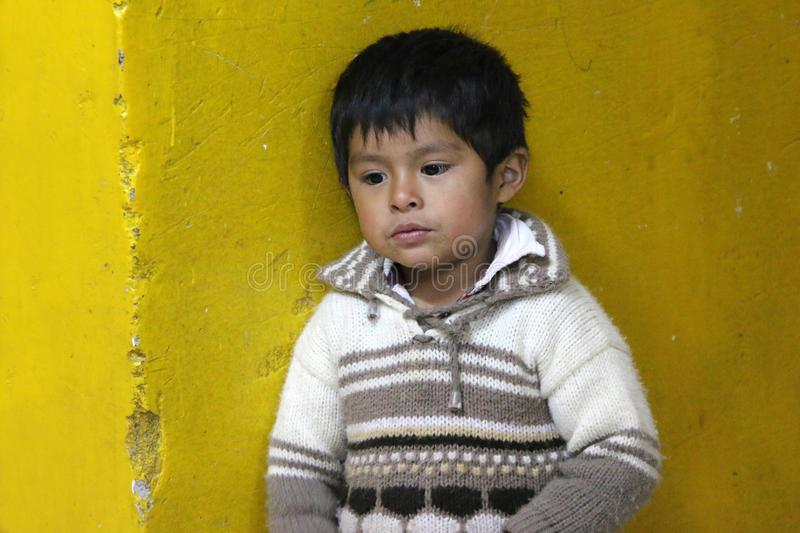 Boy in peru stock images