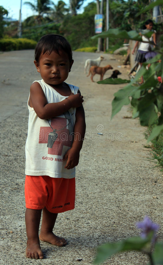 Boy from Philippines village stock photography