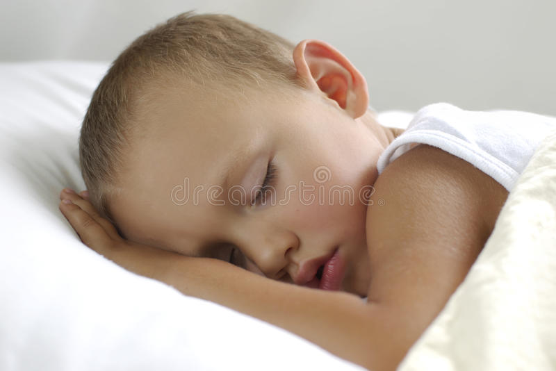 Boy On The Pillow royalty free stock photography