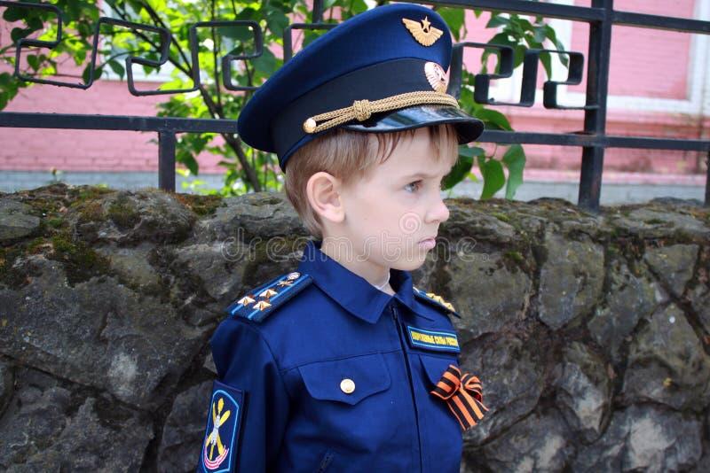 Boy pilot stock photography