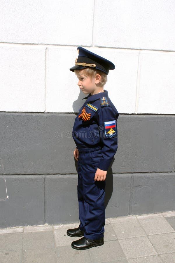 Boy pilot royalty free stock images