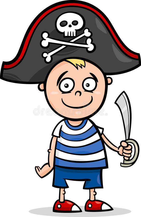 Boy In Pirate Costume Cartoon Stock Vector - Image: 34142165