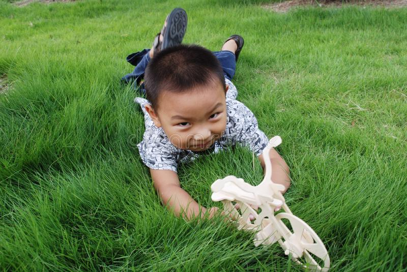 Download The boy play on meadow stock photo. Image of playful, face - 6588898