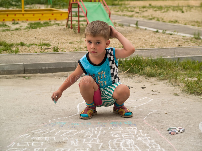 Boy At Playground Royalty Free Stock Photo