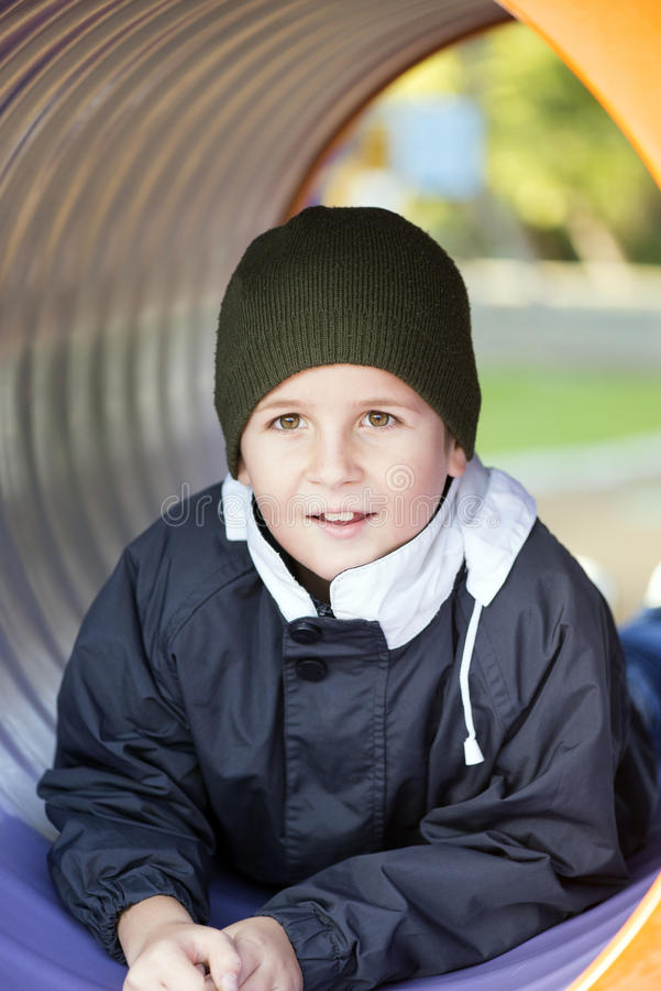 Boy at the playground stock image