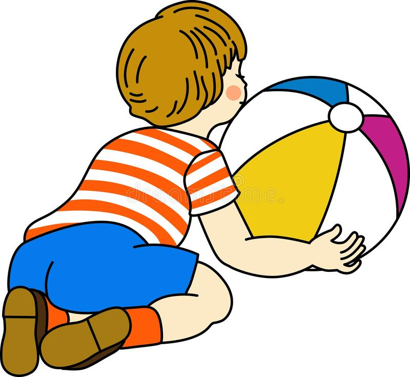 Download Boy playing with ball stock vector. Image of icon, children - 23590087