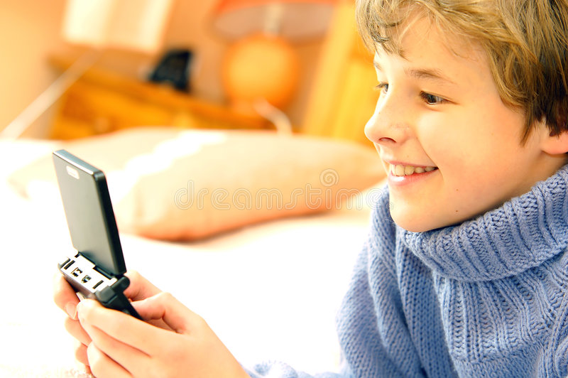 Download Boy playing computer game stock image. Image of headphones - 2454573