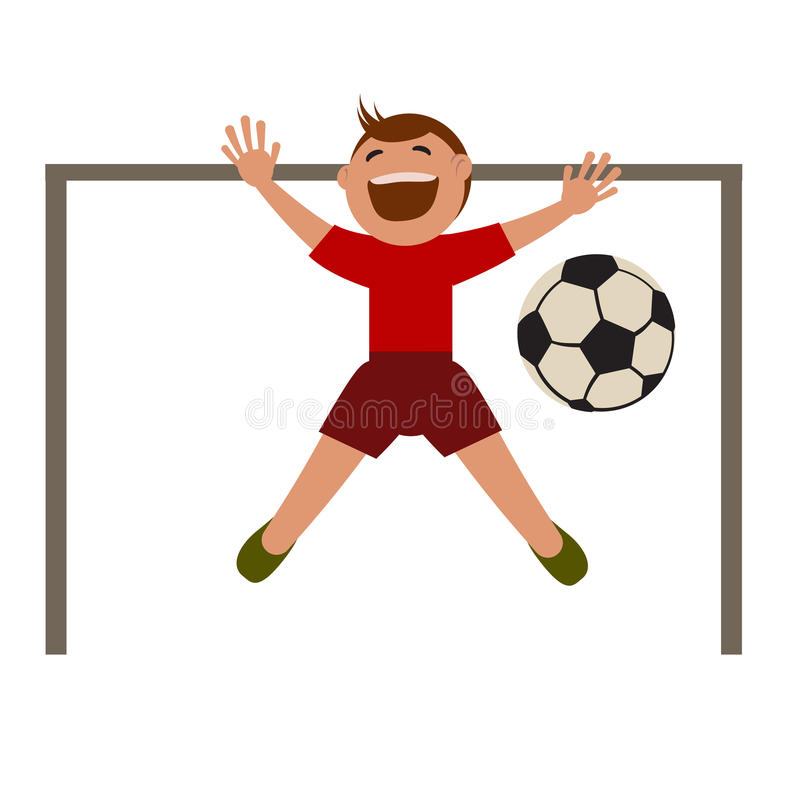 Boy playing football. royalty free illustration
