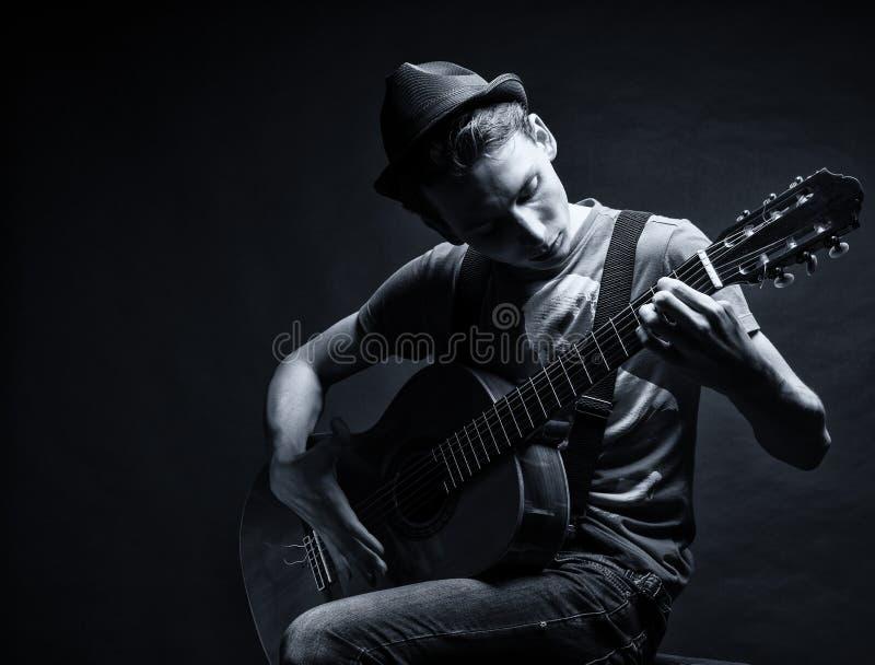 Download Boy playing gitare stock image. Image of rock, folk, playing - 26670409