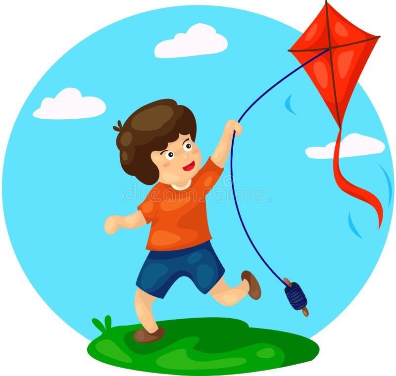 Free Boy Playing Kite Stock Photo - 42802590