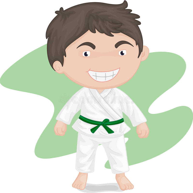 Download Boy Playing Koong-foo-karate Stock Vector - Illustration of picture, space: 10014623