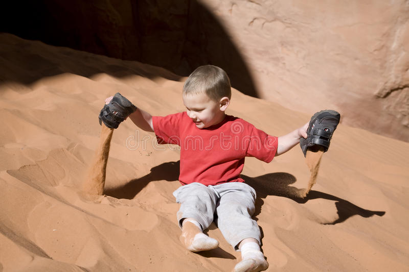 Boy Playing In Sand Royalty Free Stock Image