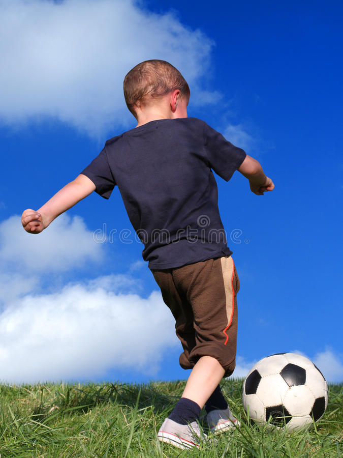 Download Boy playing soccer stock photo. Image of nature, hobby - 10099840