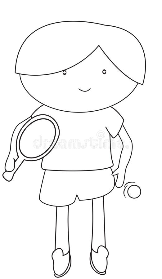 download boy playing table tennis coloring page stock illustration illustration 53482198