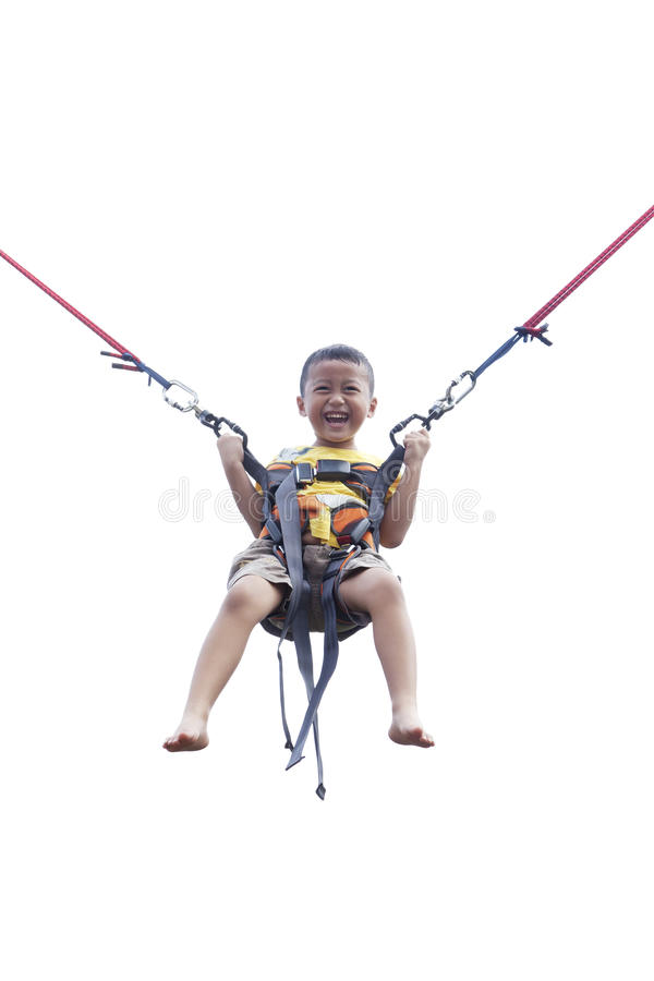 Download Boy Playing Trampoline stock photo. Image of outdoor - 25081994