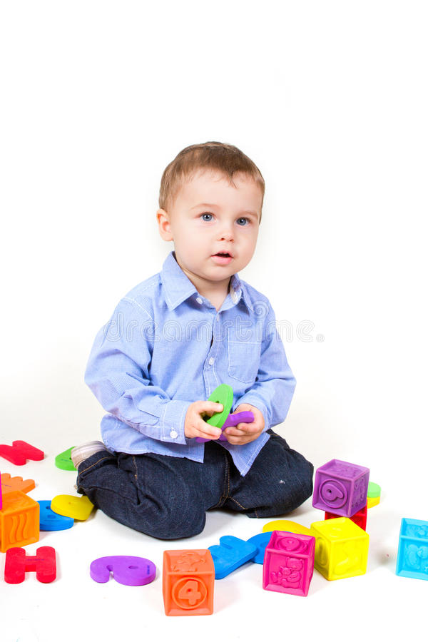 Download Boy plays stock photo. Image of letter, activity, human - 25586406