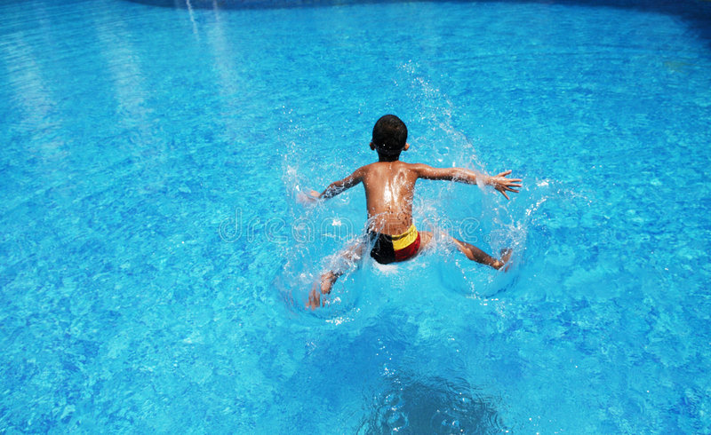 Download The boy plunge into  water stock photo. Image of sport - 5888786