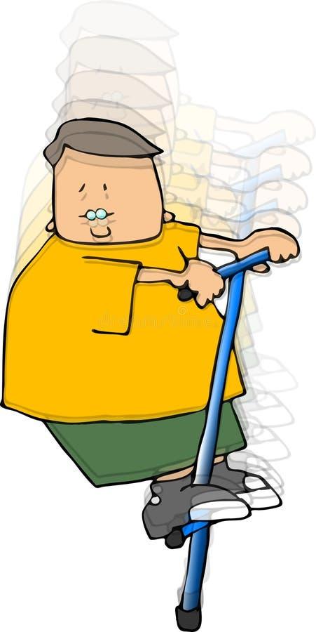 Boy On A Pogo Stick vector illustration