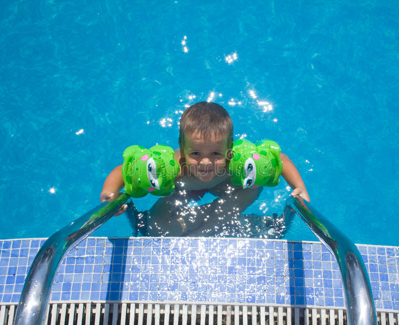 Download Boy in the pool stock photo. Image of sunshine, sunny - 10562194
