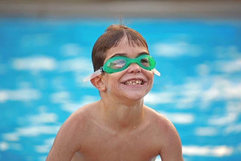 Boy At The Pool Royalty Free Stock Image
