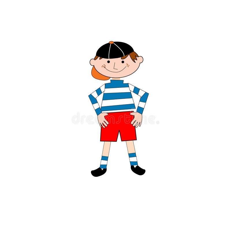 Boy pose illustration