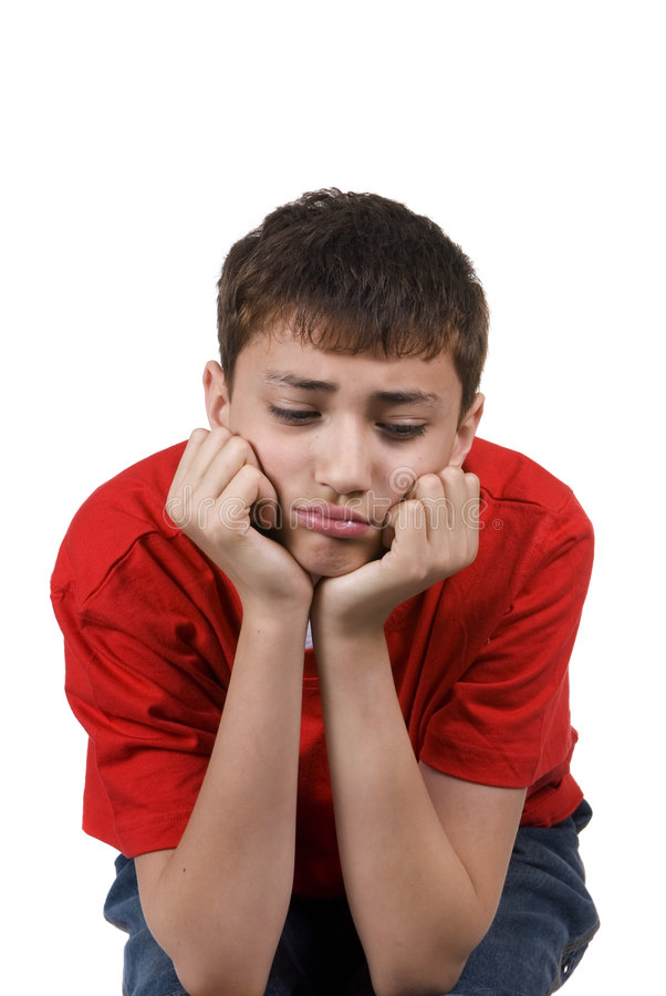 Boy Pouting Stock Images