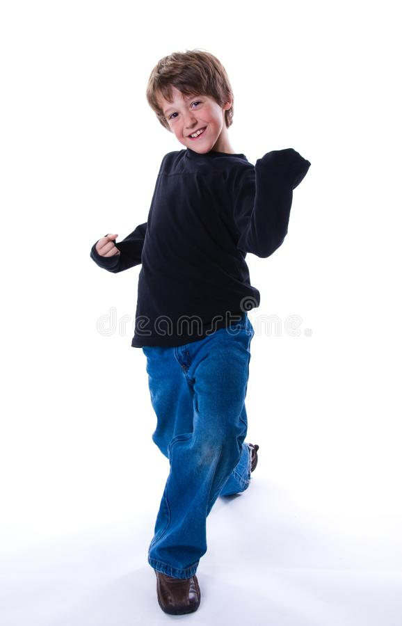 Boy power stock images