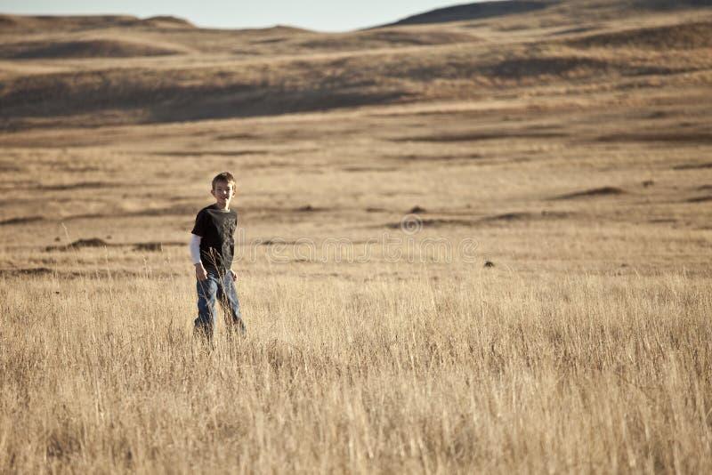 Download Boy On The Prairie Royalty Free Stock Photos - Image: 12043848